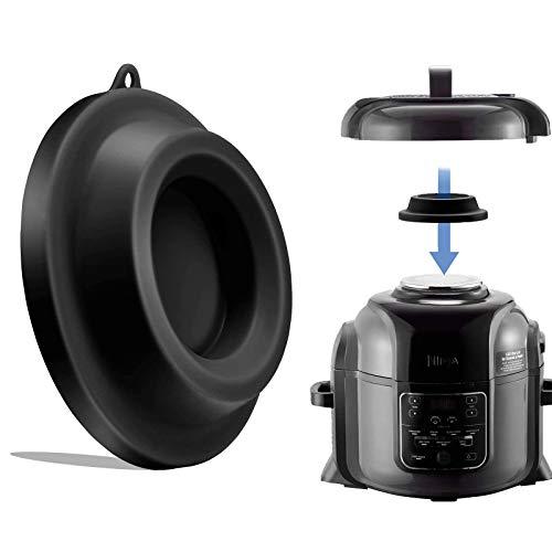 Silikon-Deckelständer Schnellkochtopf Zubehör Silikon-Deckelhalter kompatibel für Ninja Foodi Schnellkochtöpfe Air Fryer 5 Qt, 6,5 Qt und 8 Quart (schwarz)