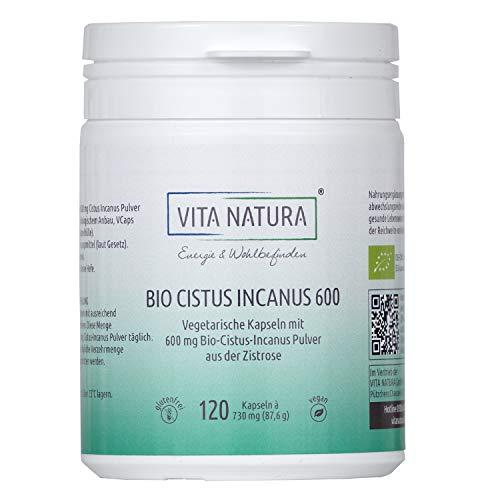 Vita Natura Cistus Incanus Bio 600 mg Vegikapseln, 1er Pack (1 x 120 Stk.)