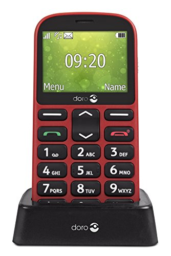 Tim 774243 Mobilephone GSM, Speicherkapazität 32 GB, Bildschirmgröße QVGA 6.09 cm (2.4 Zoll), 0,3 MP, 2.4 Rot