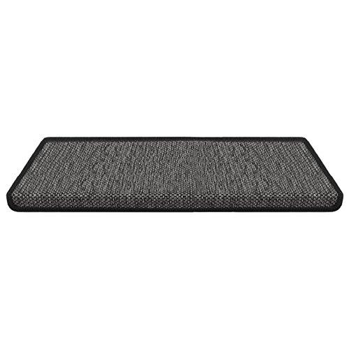 Stufenmatte Sabang | anthrazit, Sisaloptik | Qualitätsprodukt aus Deutschland | GUT Siegel | kombinierbar mit Läufer | Form und Anzahl wählbar (rechteckig, 1 Stück)