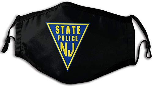 NJ State Police Face Mask with Filter Womens Mens Cloth Face Mask Adults Washable Winter Designer