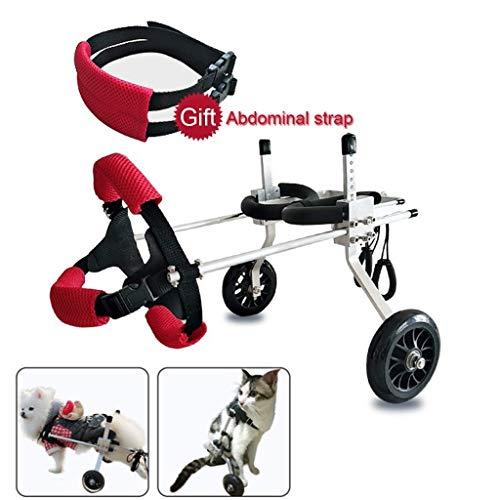 Hunderollstuhl Bester Freund - Hundegeschirr für Rollstuhl, Rollstuhl für die Mobilität des Rollstuhls, hinterer Stützrollstuhl, verstellbarer Edelstahlwagen Haustier- / Katzen-Hundefahrrad-Hinterbein