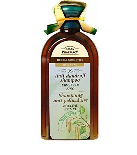 Green Pharmacy - Champú anticaspa madera de abedul y zinc, 350 ml