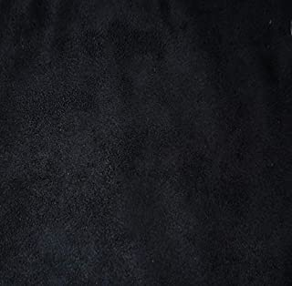 """Mybecca Microsuede Black Suede Fabric Upholstery Drapery Furniture Cover & General Use Fabric 58/60"""" Width Fabric Sold Per..."""