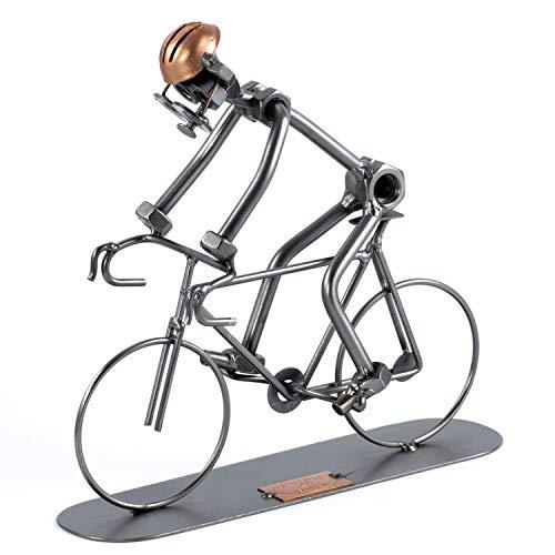 Steelman24 I Schraubenmännchen Rennrad I Made in Germany I Handarbeit I Geschenkidee I Stahlfigur I Metallfigur I Metallmännchen