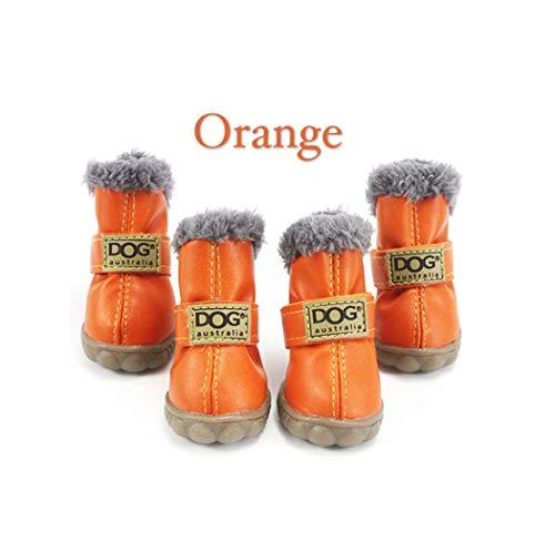 AMURAO 4 Teile/Satz Winter Pet Schuhe Warme Fell wasserdichte Kleine Hunde Stiefel Baumwolle rutschfeste Haustiere Produkt