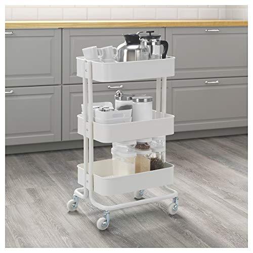 BestOnlineDeals01 RÅSKOG Trolley blanco, 35x45x78 cm, duradero y fácil de cuidar. Mesas auxiliares. Mesas auxiliares y café. Mesas y escritorios. Muebles. Respetuoso con el medio ambiente.