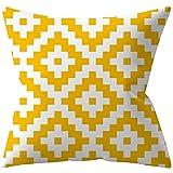Cojín Cubre la Cobertura de la Almohada de geometría Amarilla con Cremallera Invisible for la Cama de la Cama del sofá de la Cama Caja de Almohada (Color : 4, Size : 45cm*45cm)
