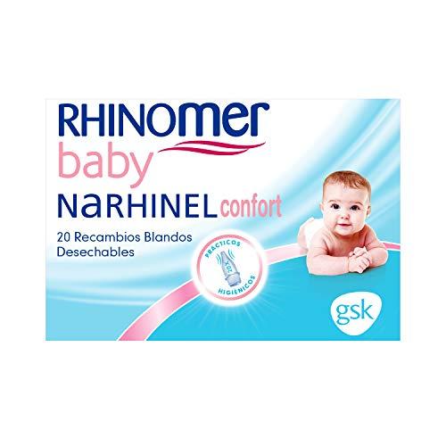 Rhinomer Baby, Recambios Blandos Desechables con Filtro Absorbente, 20 unidades ✅