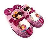 Zapatillas CASA D'VALVERDE 1003 Berenjena.Zapatillas de estra por casa para Mujer Muy comodas. (BERENGENA, Numeric_36)