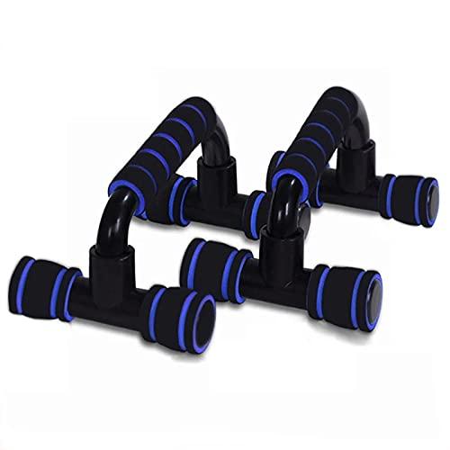 Conjunto De Barra De Push-up I-Formado Push-Up Rack Fitness Equipment Hand Sponge Grip Bars Muscle Training Push Up Bar Cofre Home Gym Body Building 1pair (Color : Azul, Size : One Size)