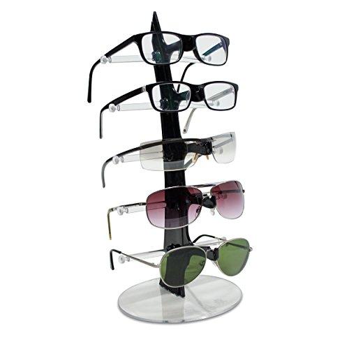 VENKON - Brillenregal für 5 Paar Brillen Organizer Sonnenbrillenablage - 35 x 16 cm