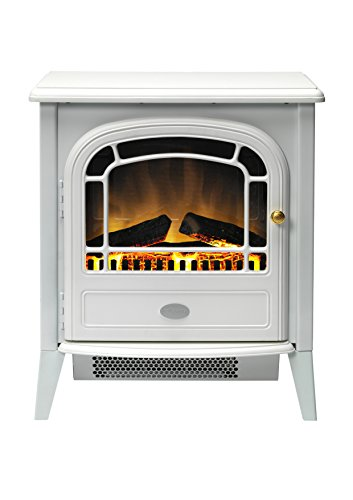 Dimplex CVL20E Courchevel Electric Stove with Optiflame Effect, 2 kW, 230 W, White