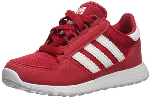adidas Originals Unisex-Kid's Forest Grove C Running Shoe, Scarlet/White/White, 10.5K M US Little Kid