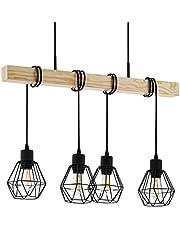 Eglo TOWNSHEND 5 hanglamp, staal, 60 W, zwart, bruin