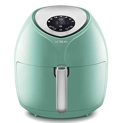 Ultrean 6 Quart Air Fryer, Large Family Size Electric Hot Air Fryers XL Oven Oilless Cooker with 7 Presets, LCD Digital Touch Screen and Nonstick Detachable Basket,UL Certified,1700W (Blue)