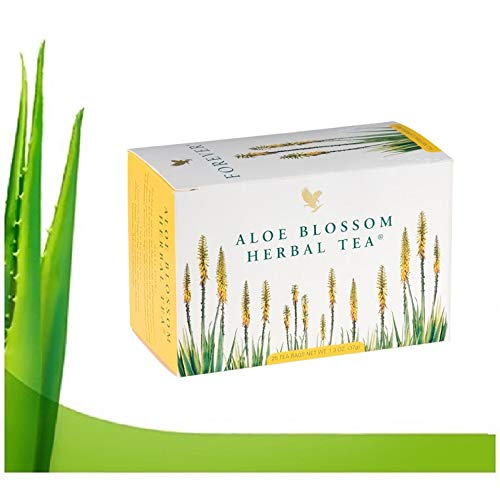 Forever living aloe blossom herbal tea con flores de aloe vera y hierbas te infusion.