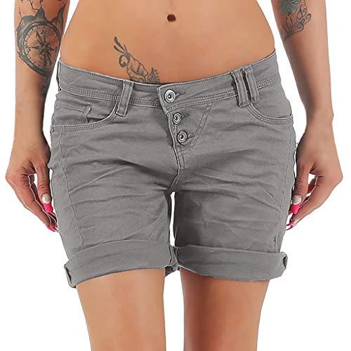 Dasongff Damen Bermuda aus Leinen Shorts für den Strand Casual Kurze Hose Pants Lockere High Waist Hotpants Chino Hose Fit Sommerhose Stoffhose S-5XL