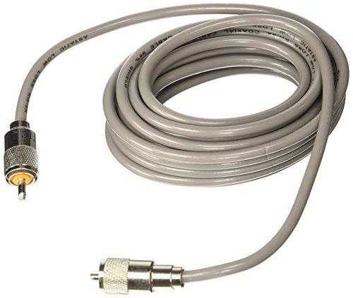 Astatic 302-10267 Gray 18' Mini 8 Coaxial Cable Cb Radio Coax Cable