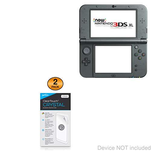 Película protetora de tela Nintendo 3DS XL, BoxWave [ClearTouch Crystal (pacote com 2)] HD - Protege contra arranhões para Nintendo New 3DS XL   Switch Lite   Nintendo 2DS XL
