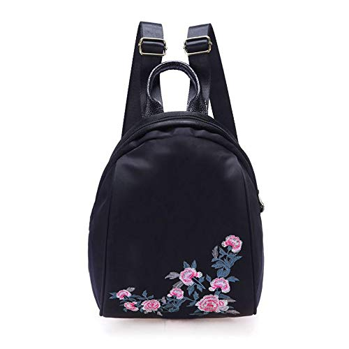 Oxford nylon cloth national style literature and art embroidered backpack women's characteristic small backpack embroidered bag 牵牛花款