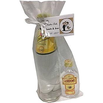 Pack de ginebra Gordons con tónica Schweppes en bolsa de organza ...