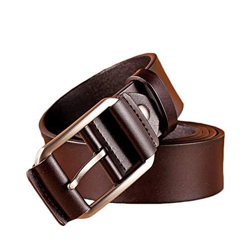 PengGengA Hombres Cinturón De Cuero Correa Cinturones De Piel Diseñado Para Caballero Café 120