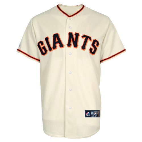 Majestic MLB San Francisco Giants Andres Torres Elfenbeinfarben Home Short Sleeve 6 Button Synthetik Replica Baseball Jersey Spring 2012 Herren, Herren, elfenbeinfarben