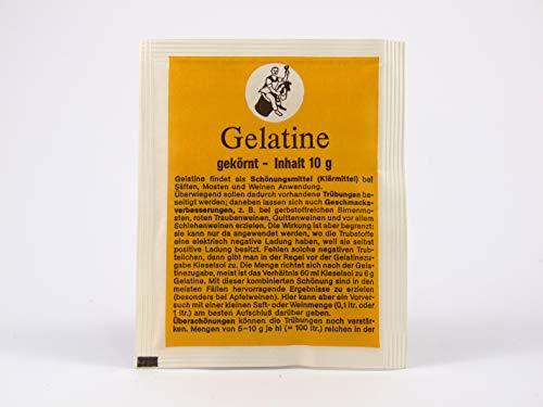Gelatina 10g - ARAUNER per la chiarificazione di vino, mosto o succo
