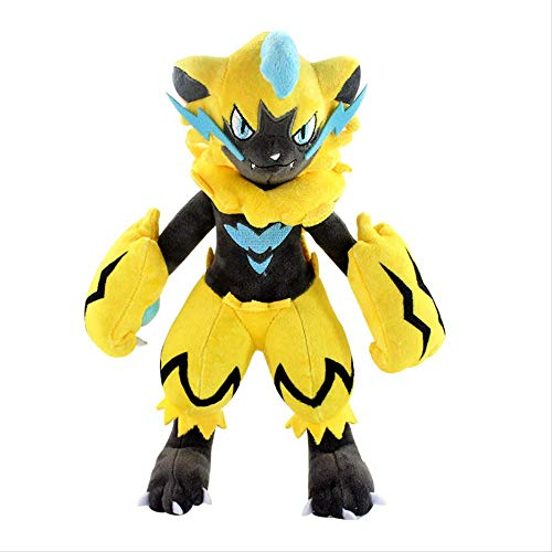 qwerbz 10.7in Animal Zeraora Plush Toy Cartoon Doll Toys Soft Stuffed Cotton Toy Robot Anime Muñecas para Niños Regalos De Fiesta De Cumpleaños