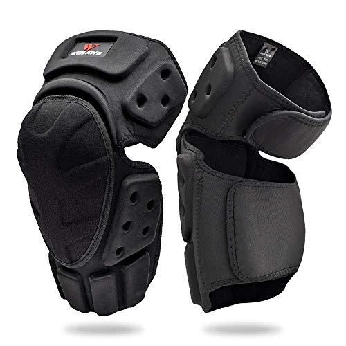 WOSAWE - Rodilleras de espuma EVA de alto impacto para motocross, protectores de espinilleras para adultos, ciclismo, patinaje, carreras (tamaño libre)