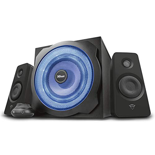 Trust Tytan Gaming Set Altoparlanti 2.1 con Subwoofer Illuminato LED Blu, Limited Edition, Nero