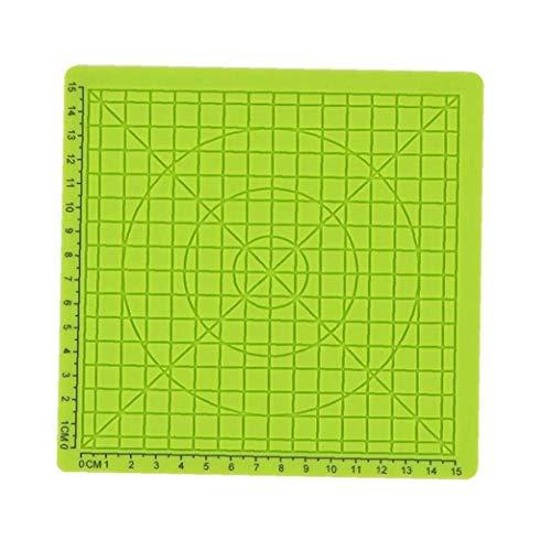 Hiinice 3D-Pen Mat Druck Silikon-Auflage-vorlage 3D-Feder-zubehör Zeichenschablone Mit Geometrischem Grunde Grün Werkzeugen Malerei