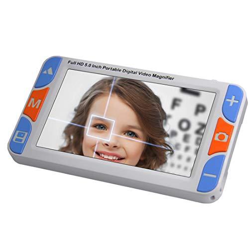 LLC-POWER 5-inch elektronische hulp voor Low-Vision 3-48X zoom videovergrootglas, 26 kleurmodi, AV/TV/HDMI-uitgang, voor make-ula-degeneratie, deteriorating Retina