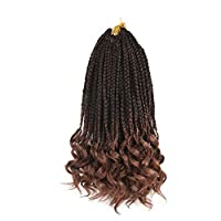 Synthetic Hair 3S Box Braids Twist Crochet Braids Ombre Hair Extensions Color: 1B natural black color ,#2,#4,T27, T30 and TBUG, 6packs/Lot Advantage: No smell.Soft and Feeling light,natural looking ends,very easy to install Length: 14inch,18inch and ...