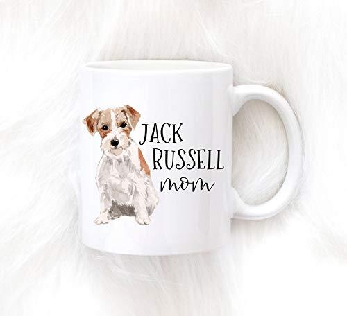 Taza de café con diseño de Jack Russell para Jack Russell Owner Jack Russell Mom, regalo de acuarela para perro, mamá, perro, papá, cumpleaños de perro