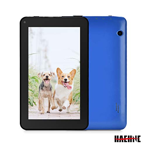 Haehne 7 Zoll Tablet PC - Google Android 6.0 Quad Core, 1GB RAM 16GB ROM, Dual Kameras, WiFi, Bluetooth, Blau