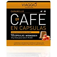 VIAGGIO ESPRESSO - 60 Cápsulas de Café Compatibles con Máquinas Nespresso. (CARAMELLO)