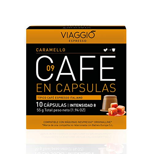 Viaggio Espresso Cápsulas de café compatibles con máquinas Nespresso Caramelo (60 Cápsulas)