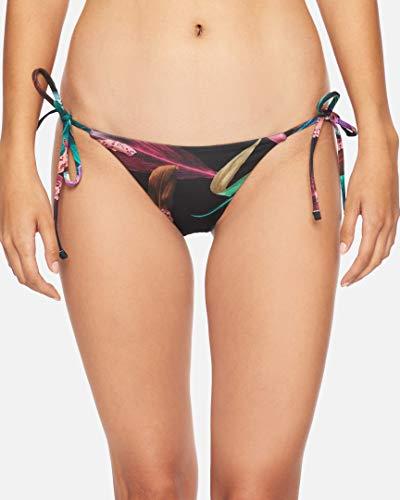 Hurley W Rvsb Orchid Snack Surf Bottom Parte De Abajo Bikini, Mujer, Black/(Black), L