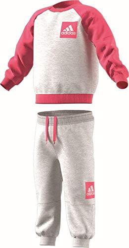 adidas Unisex Kinder I Sp Fleece Jog Jacke, Grigio (Grigio/Rosa), 80