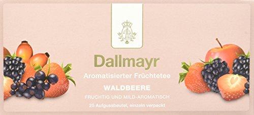 Dallmayr Tee Aufgussbeutel - Früchtetee Waldbeere, 2er Pack (2 x 62,5 g)