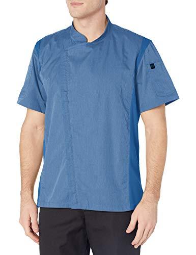 Chef Works Abrigo de chef Springfield para hombre, Azul (Sky Blue), Large