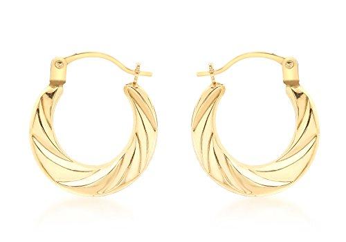 Carissima Gold Pendientes de Oro Amarillo sin Gema para Mujer