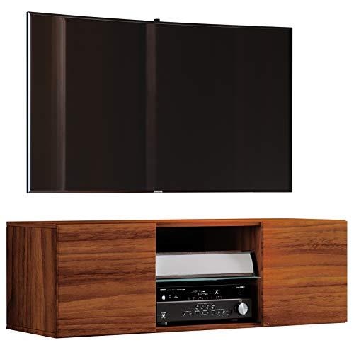 VCM TV Schrank Lowboard Tisch Board Fernseh Sideboard Wandschrank Wohnwand 40 x 115 x 36 cm Kern-nussbaum