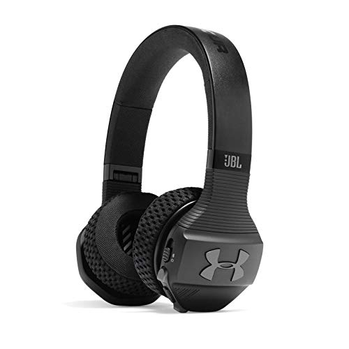 JBL Under Armour Sport Wireless Train - Bluetooth Kopfhörer - Wireless Noise Cancelling Headphones kabellos - On Ear Kopfhörer in Schwarz/Grau