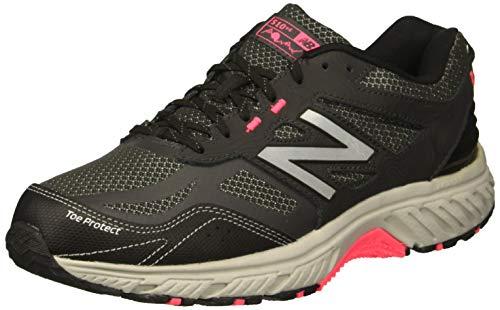 New Balance Women's 510v4 Cushioning Running Shoe, black/phantom/pink zing, 12 W US