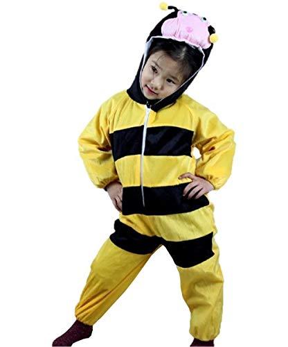 Lovelegis (Talla XXL) Disfraz de Abeja para niño y niña 6/7 años - Disfraz - Carnaval - apina - Halloween - Unisex - Cosplay