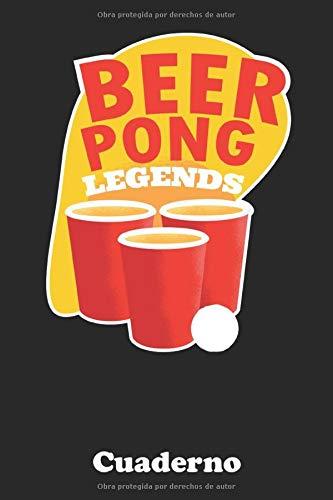Beer Pong: Cuaderno para jugadores reales y campeones | Usar como cuaderno, diario, cuaderno de colorear, cuaderno de bocetos, etc. | 120 páginas en formato punto | Formato A5 | ¡Agarra a tu hermano!