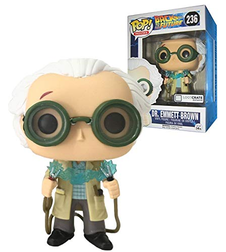 October 2015 \Time Travel\ Exclusive Funko Pop #236 Back To The Future Dr. Emmet Brown Figurine by Funko